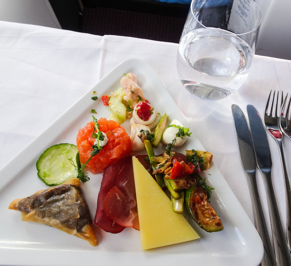 Appetizers - Austrian Airlines Business Class