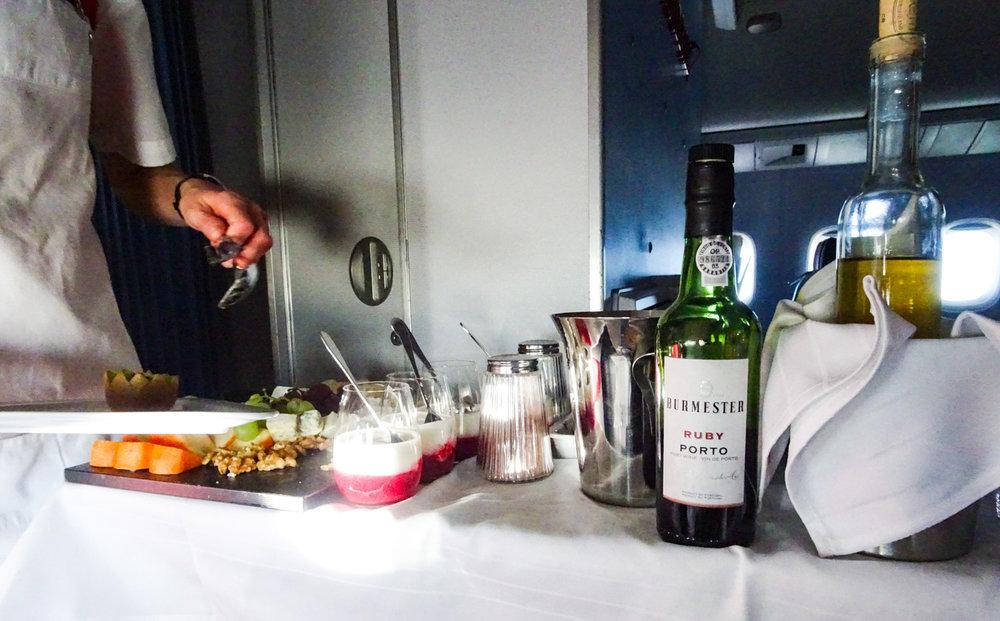 Dessert Trolly - Austrian Airlines Business Class  Photo: Calvin Wood