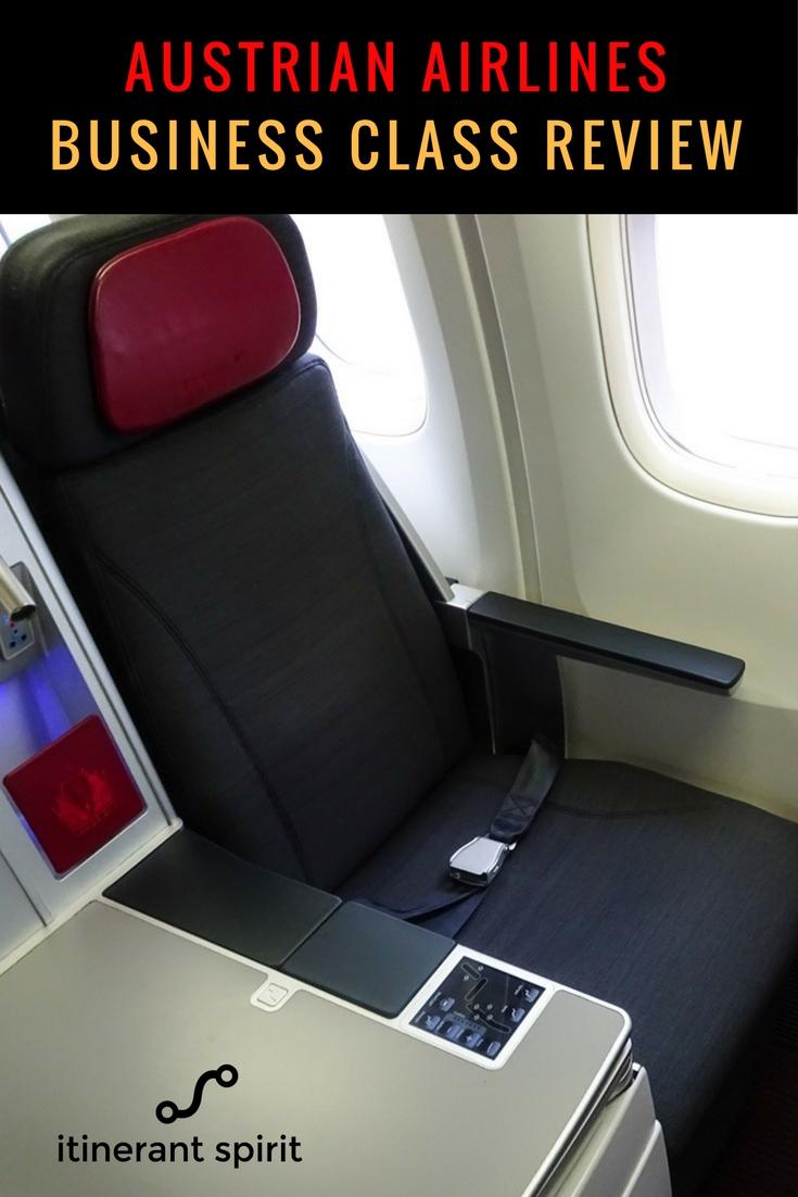 Austrian Airlines Business Class Review - Itinerant Spirit Travel Blog