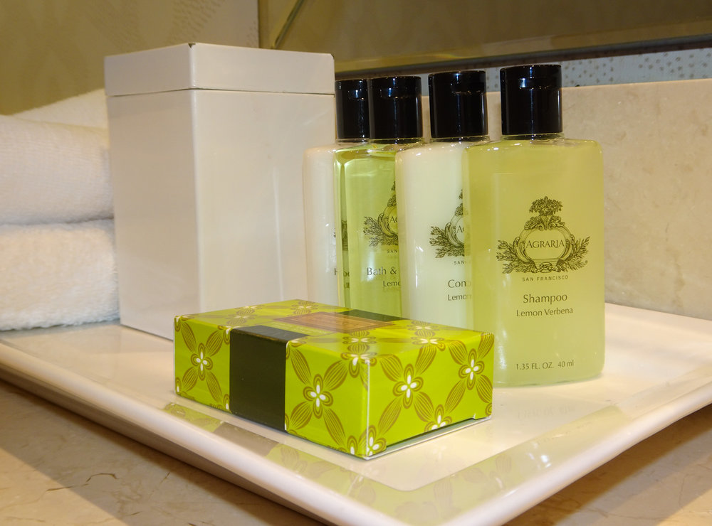Toiletries - Intercontinental Chicago   Photo:  Calvin Wood
