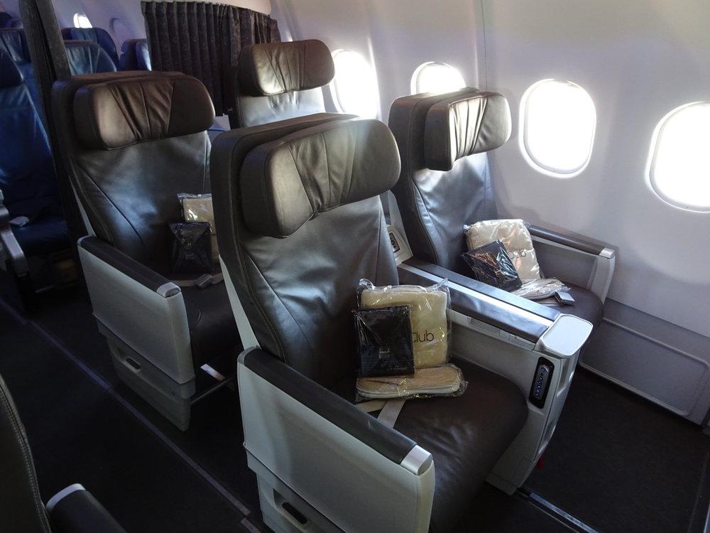 Air Transat's Club Class Cabin  Photo: Calvin Wood