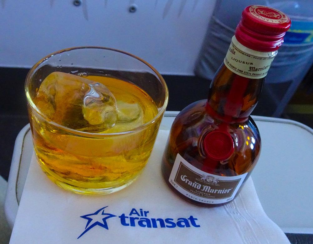 Post Dinner Liqueur - Club Class Air Transat  Photo: Calvin Wood