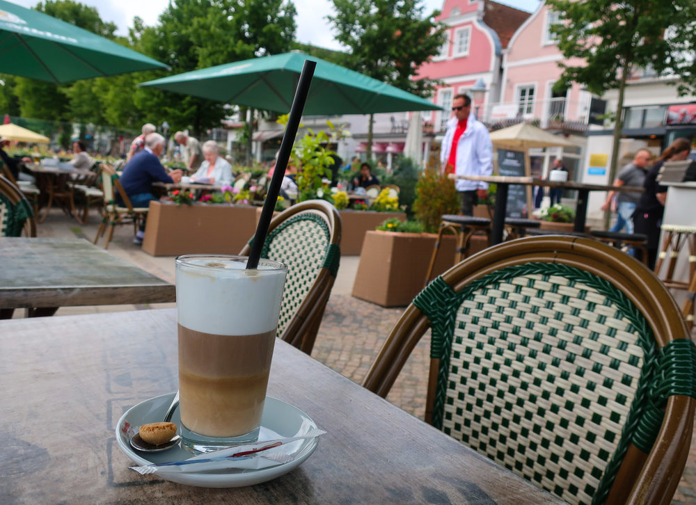 Coffee on the Canal - Warnemunde, Germany   Photo: Calvin Wood