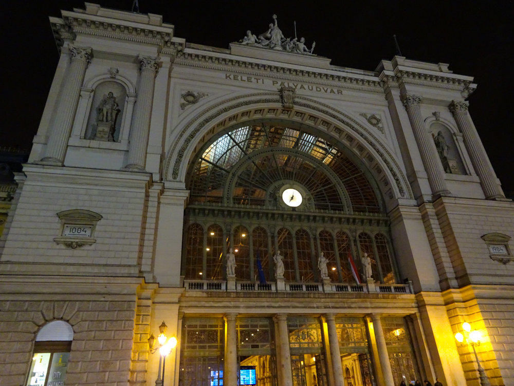 Keleti Train Station - Entrance - Budapest   Photo: Calvin Wood