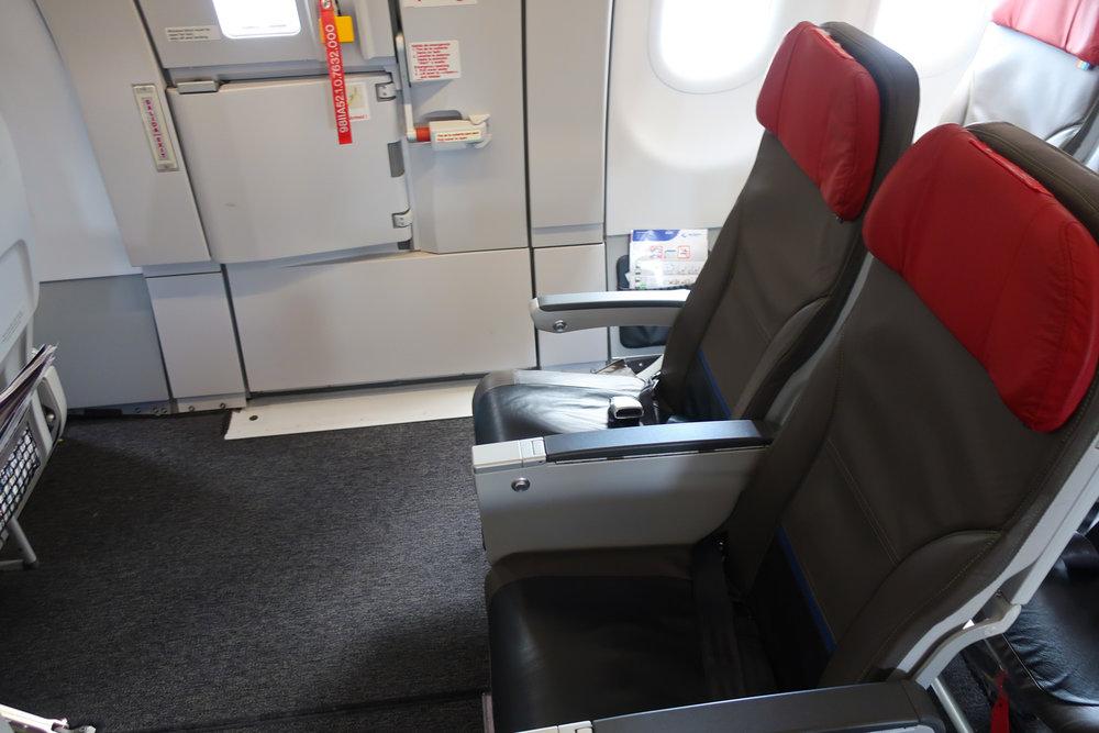 XXL Seat - Exit Row - WOW Air  Photo: Calvin Wood
