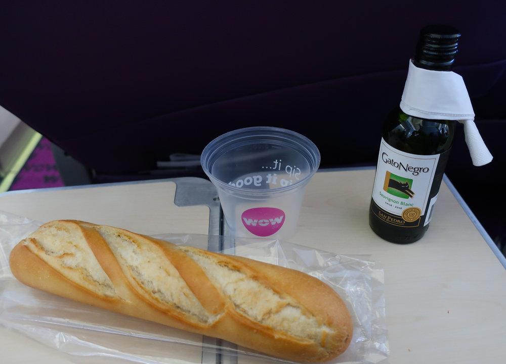 Meal - Biz Class - WOW Air  Photo: Calvin Wood