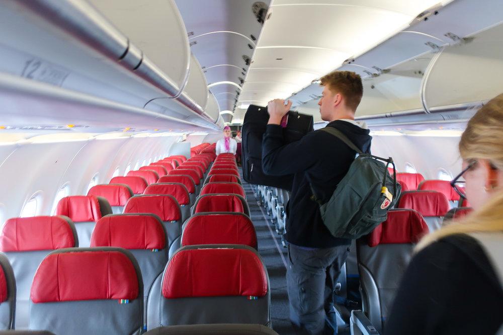 Regular Coach Seats on the A320  - WOW Air  Photo: Calvin Wood