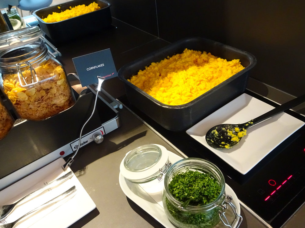 Breakfast - Austrian Airlines Business Lounge - Vienna Terminal D   Photo: Calvin Wood