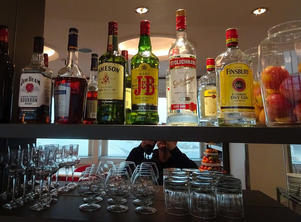Spirits - Austrian Airlines Business Lounge - Vienna Terminal D  Photo: Calvin Wood
