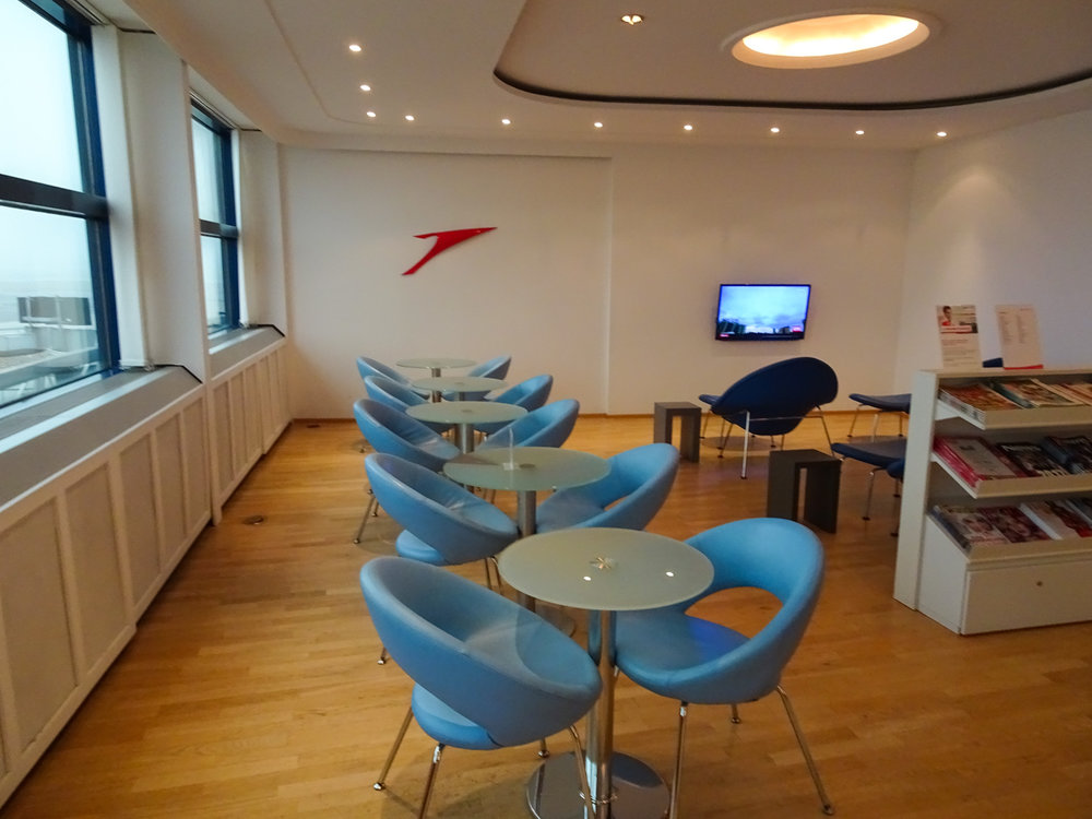 Reading Area - Austrian Airlines Business Lounge - Vienna   Photo: Calvin Wood