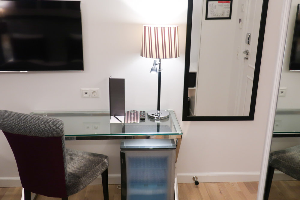 Work Area - Double Room - Absalon Hotel  Photo: Calvin Wood