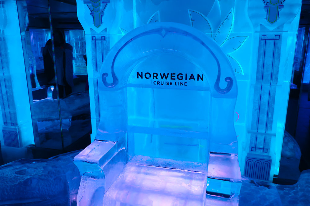 Ice Bar Seating - NCL Getaway  Photo: Calvin Wood
