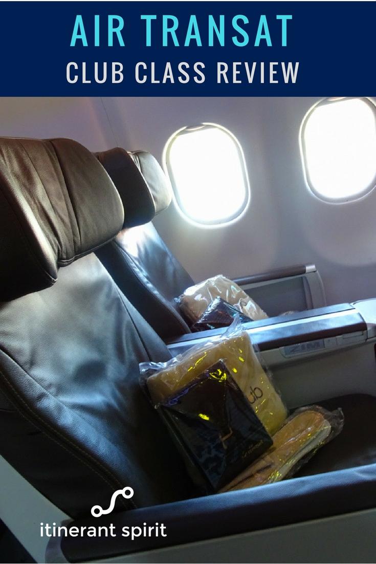 Air Transat Club Class Review - Itinerant Spirit