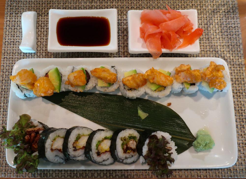 Spider Roll - Wasabi Sushi - NCL Getaway  Photo: Calvin Wood