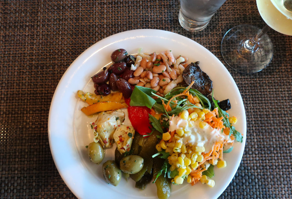 Salad from Spanish Lunch Buffet - Moderno - NCL Getaway   Photo: Calvin Wood