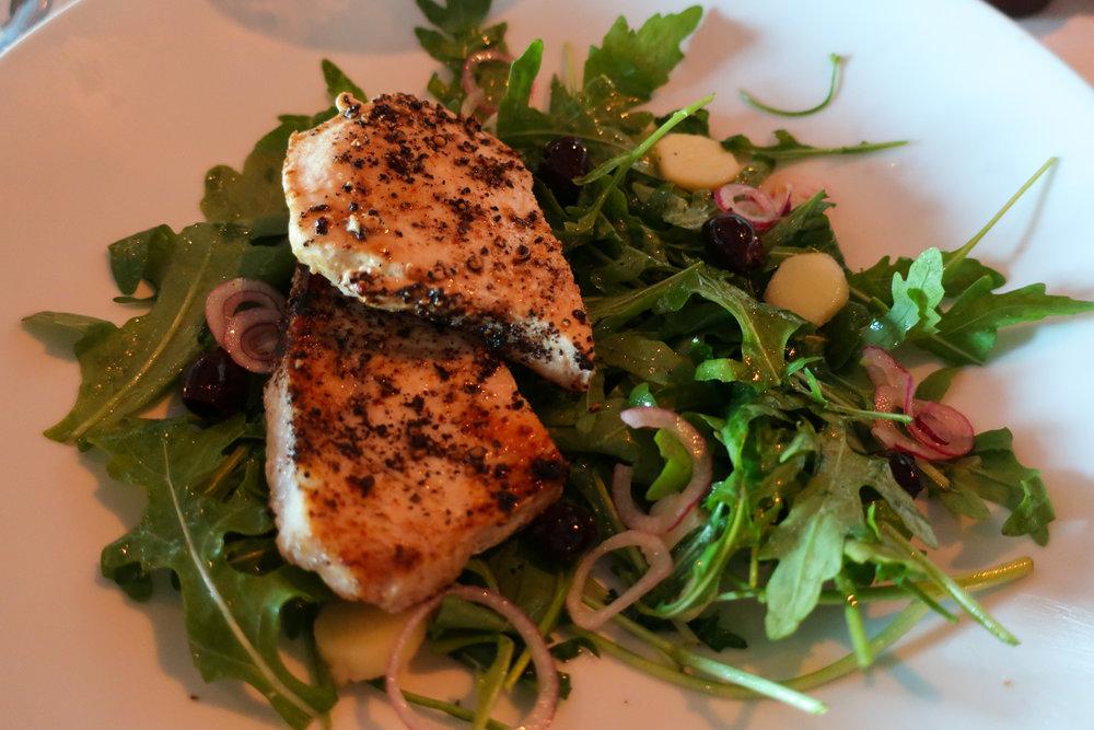 Swordfish Salad - NCL Getaway  Photo: Calvin Wood
