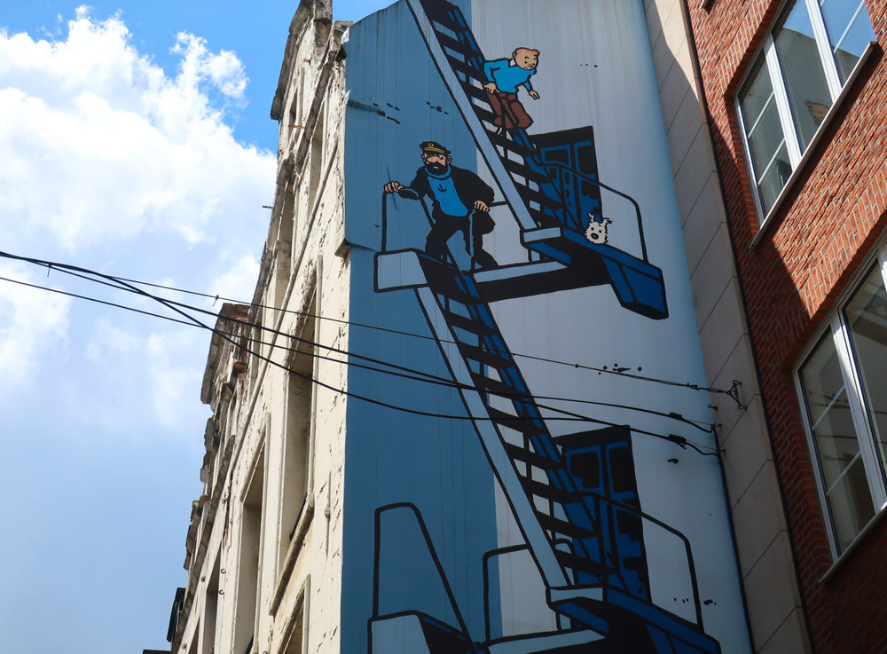 Tintin Mural - Brussels   Photo: Calvin Wood
