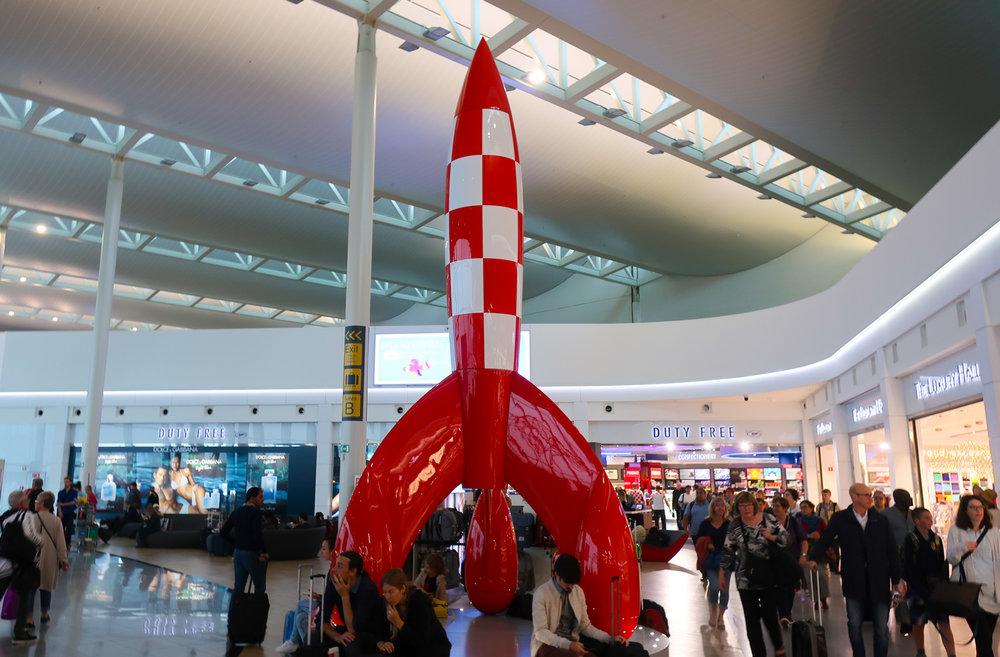 Tintin Rocket at the Airport Photo: Calvin Wood
