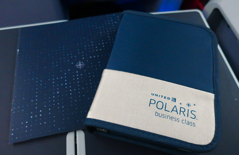 Inflight Amenity Kit- United Airlines Business Class  Photo: Calvin Wood