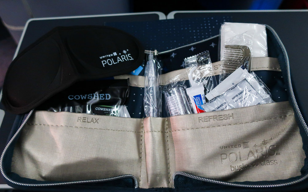 Amenity Kit - Inside - United Airlines Business Class   Photo: Calvin Wood