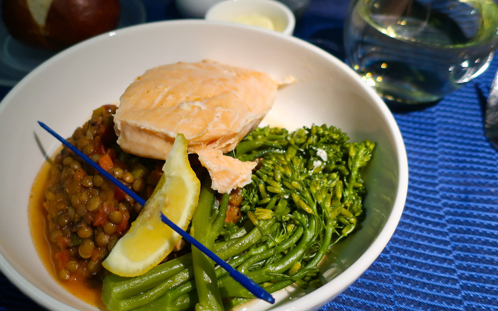 Salmon Main - United Airlines Business Class   Photo:  Calvin Wood