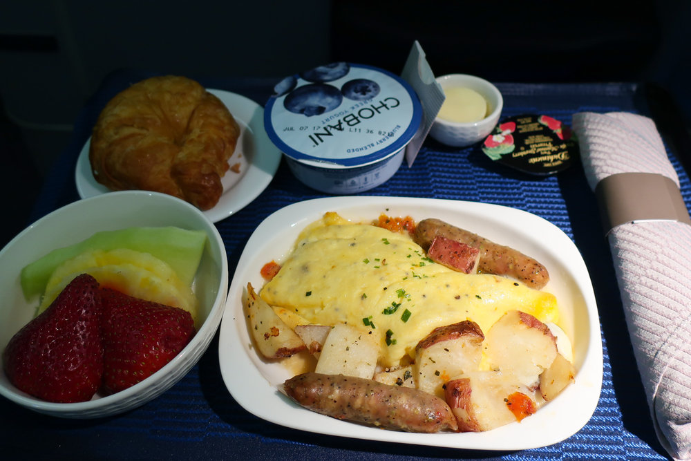 Breakfast - Farmers Omelette - United Airlines Business Class    Photo: Calvin Wood