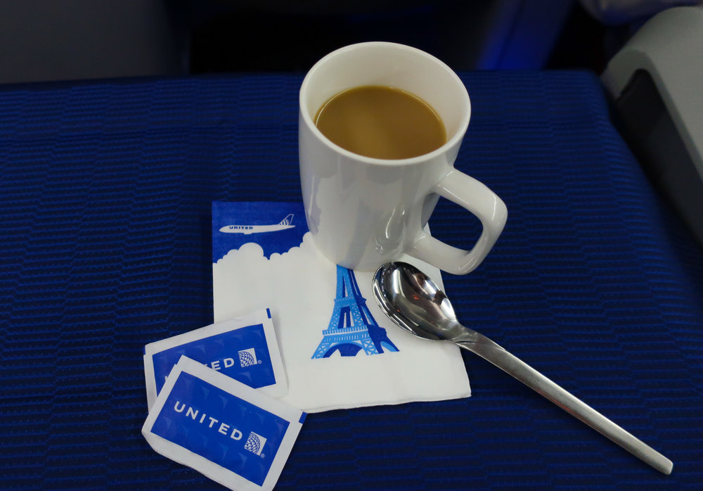 Morning Coffee - United Airlines Business Class   Photo: Calvin Wood