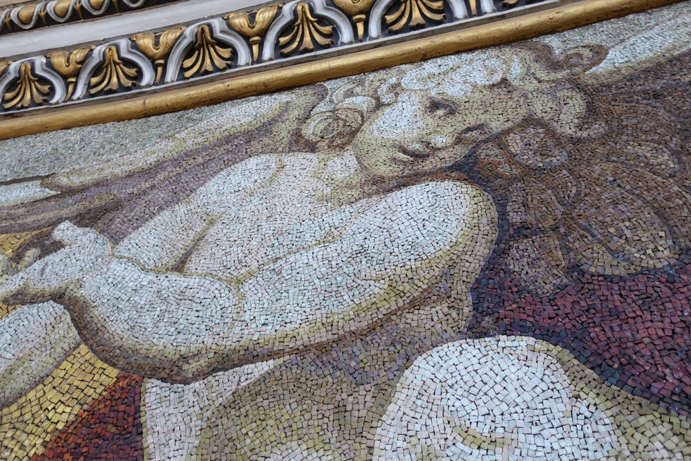 Up Close Views of the Mosaics - St. Peter's Basilica Rome  Photo: Calvin Wood