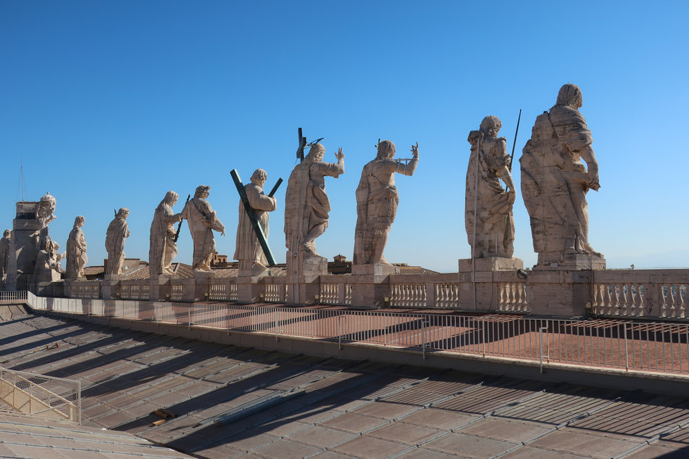 Statues on the Roof of St. Peters  Photo: Calvin Wood