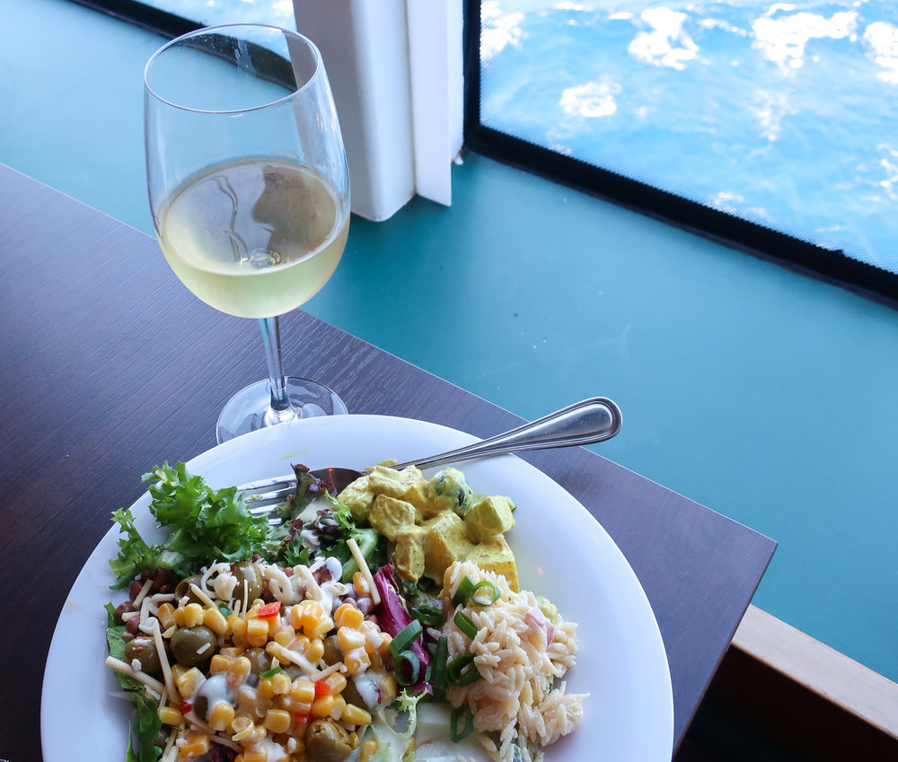 Salad by the sea in Raffles - NCL Spirit   Photo: Calvin Wood