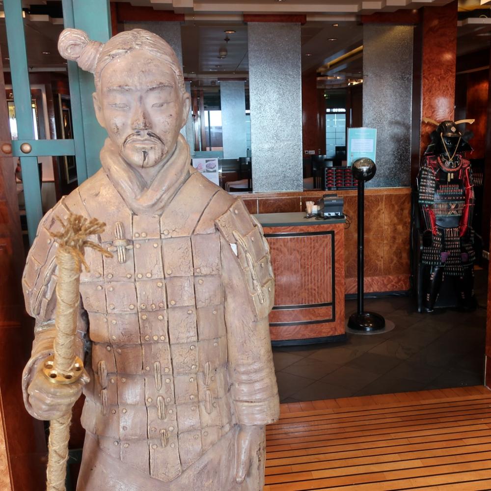 Guarding a Restaurant - NCL Spirit Photo: Calvin Wood