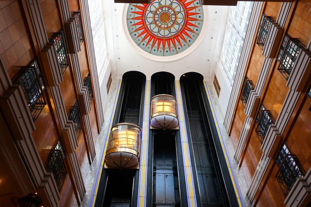 Glass Elevators - NCL Spirit  Photo: Calvin Wood