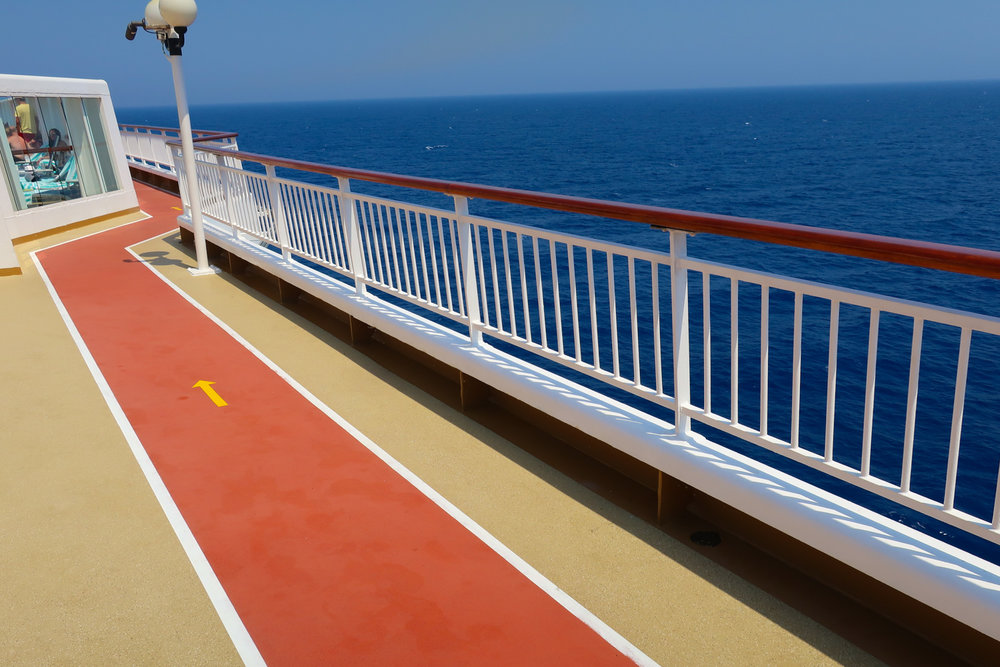 Running Track with Ocean Views - NCL Spirit   Photo: Calvin Wood