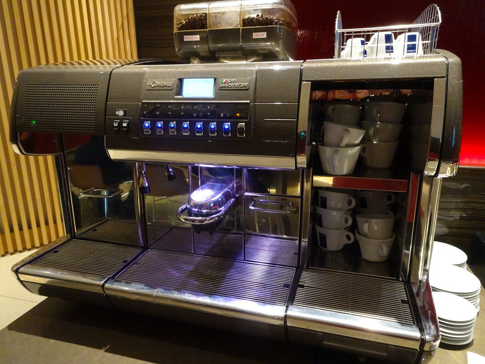 A Serious Coffee Machine - Air Canada Lounge - London Heathrow Photo: Calvin Wood