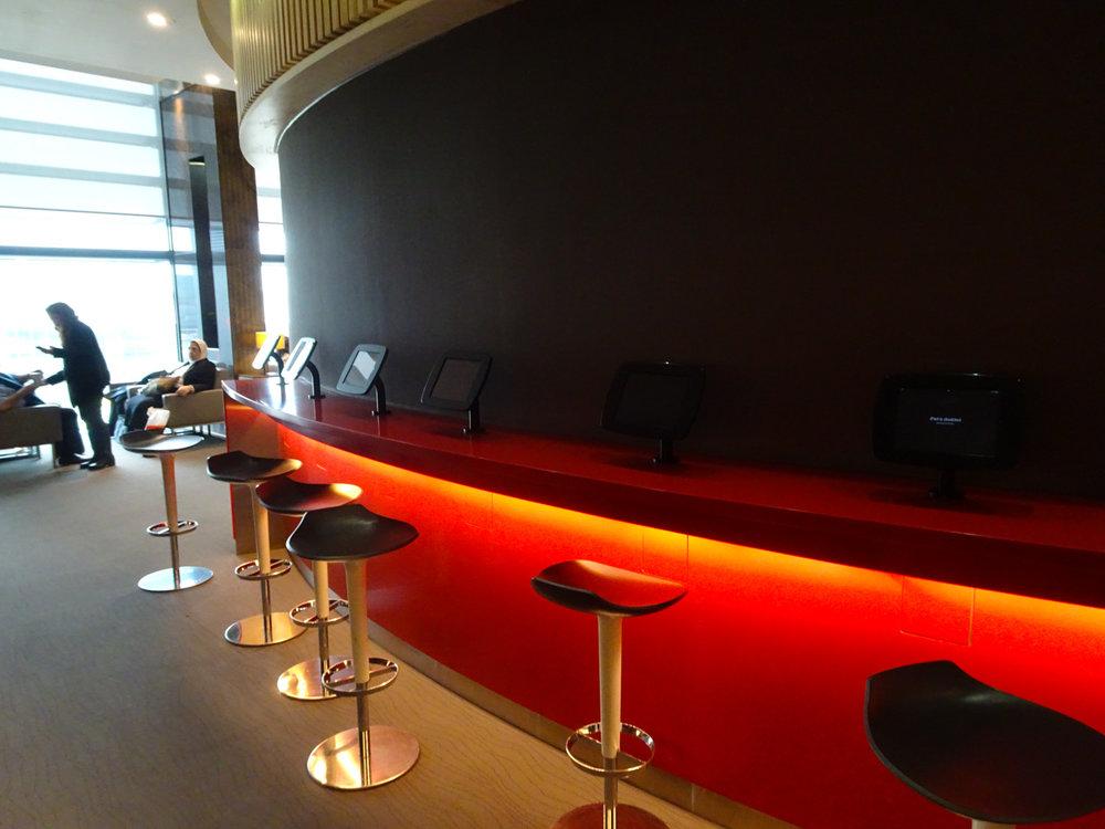 Night Club Seating! Air Canada Lounge - London Heathrow  Photo: Calvin Wood