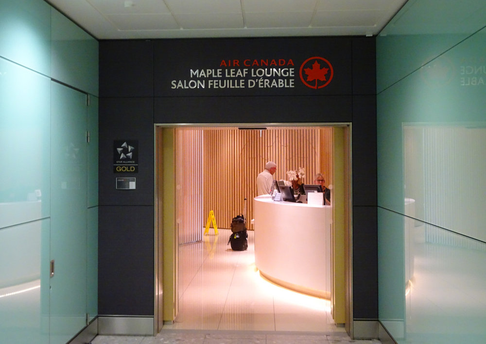 Entrance - Air Canada Lounge - London Heathrow  Photo: Calvin Wood