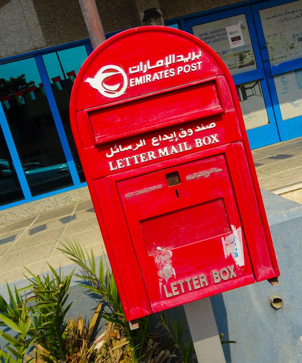 Dubai Mail Box  Photo: Calvin Wood