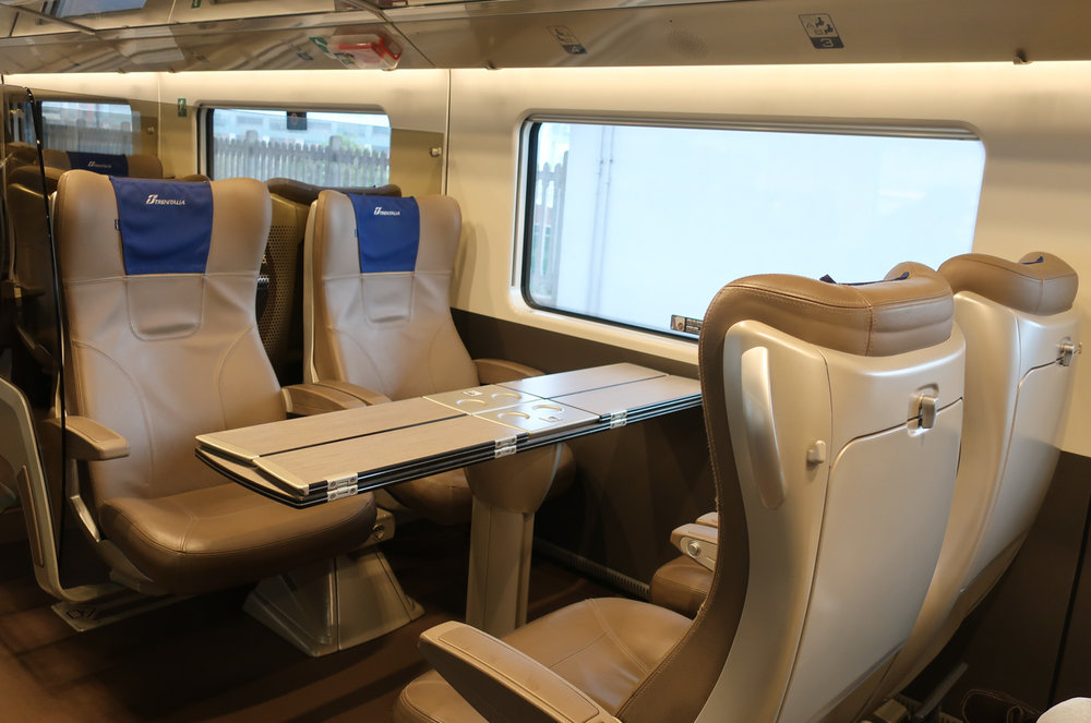 Quatro Seats - Frecciarossa 1000  Photo: Calvin Wood