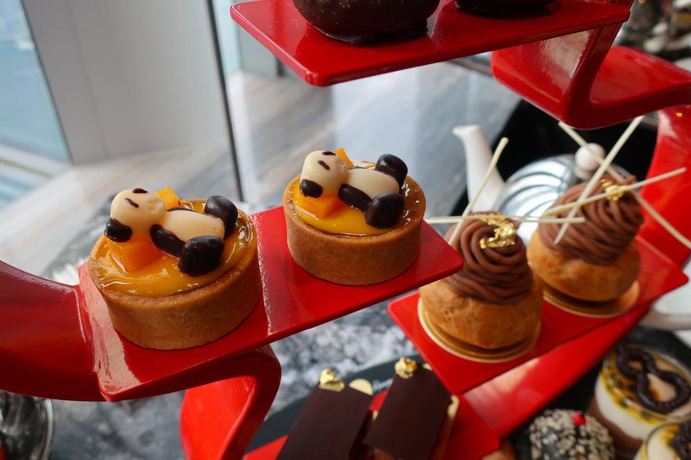 Panda Bear Tarts! High Tea at the Ritz Hong Kong Photo: Calvin Wood