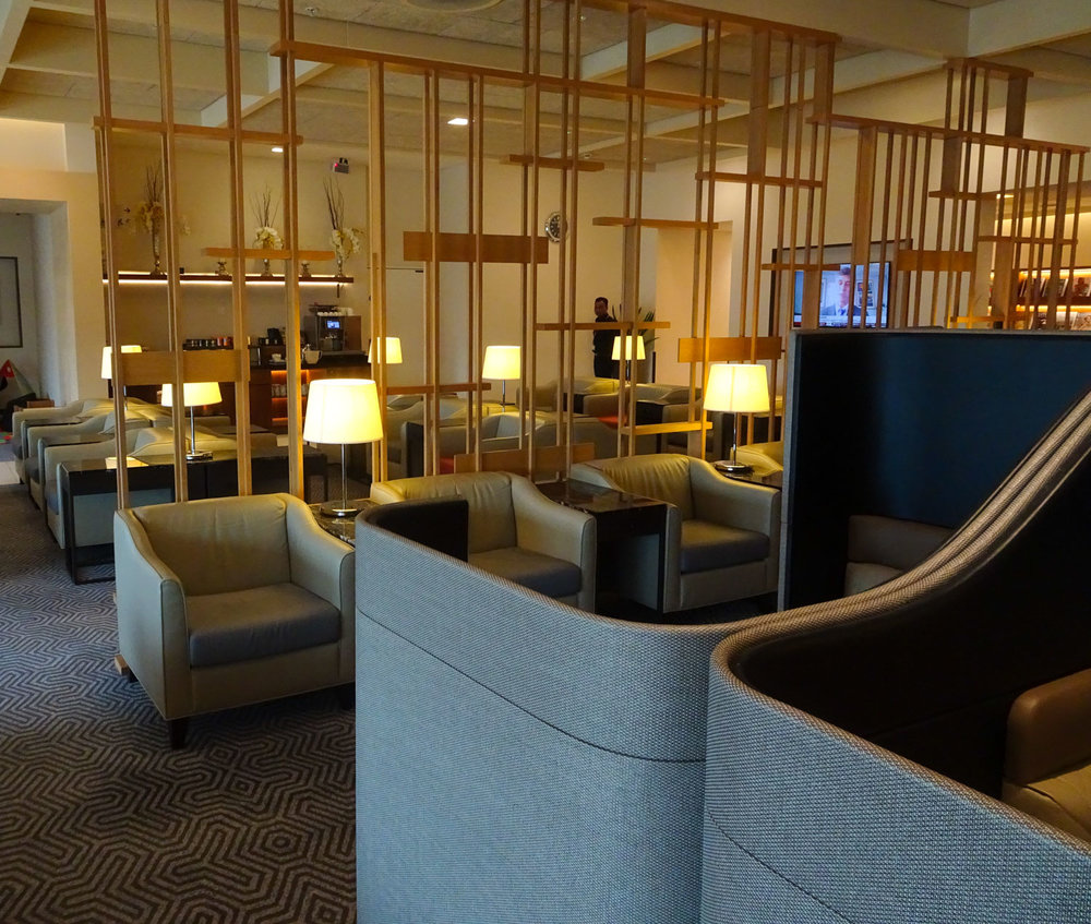 Seating - Singapore Airlines Lounge London   Photo: Calvin Wood