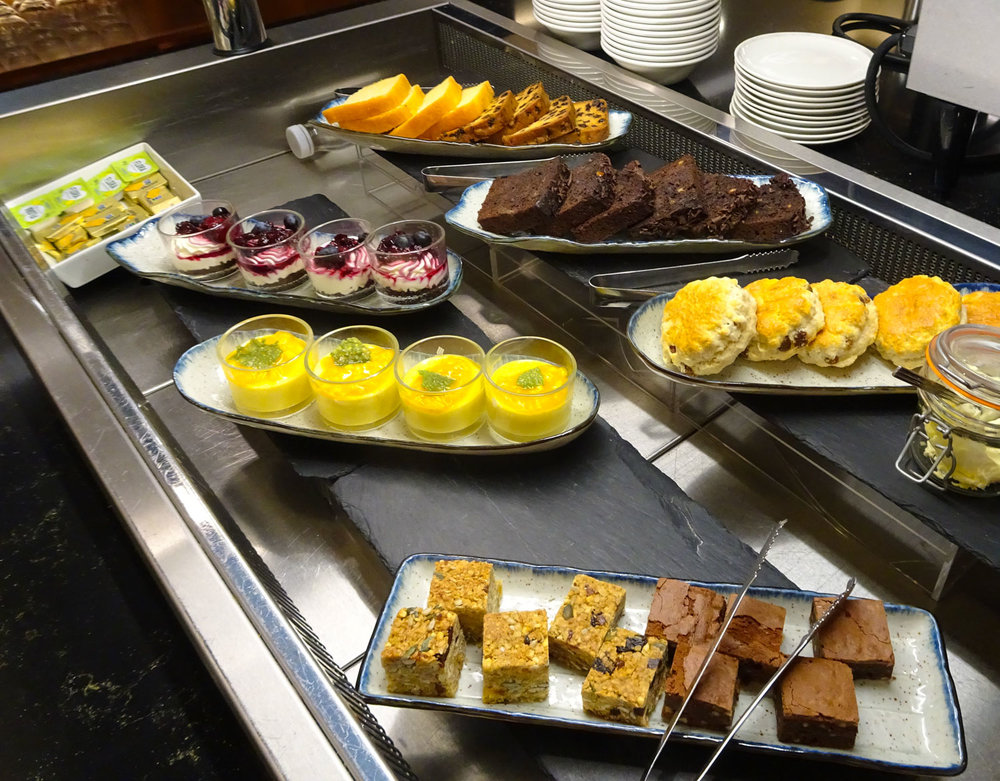 Dessert Buffet  - Singapore Airlines Lounge London   Photo:  Calvin Wood