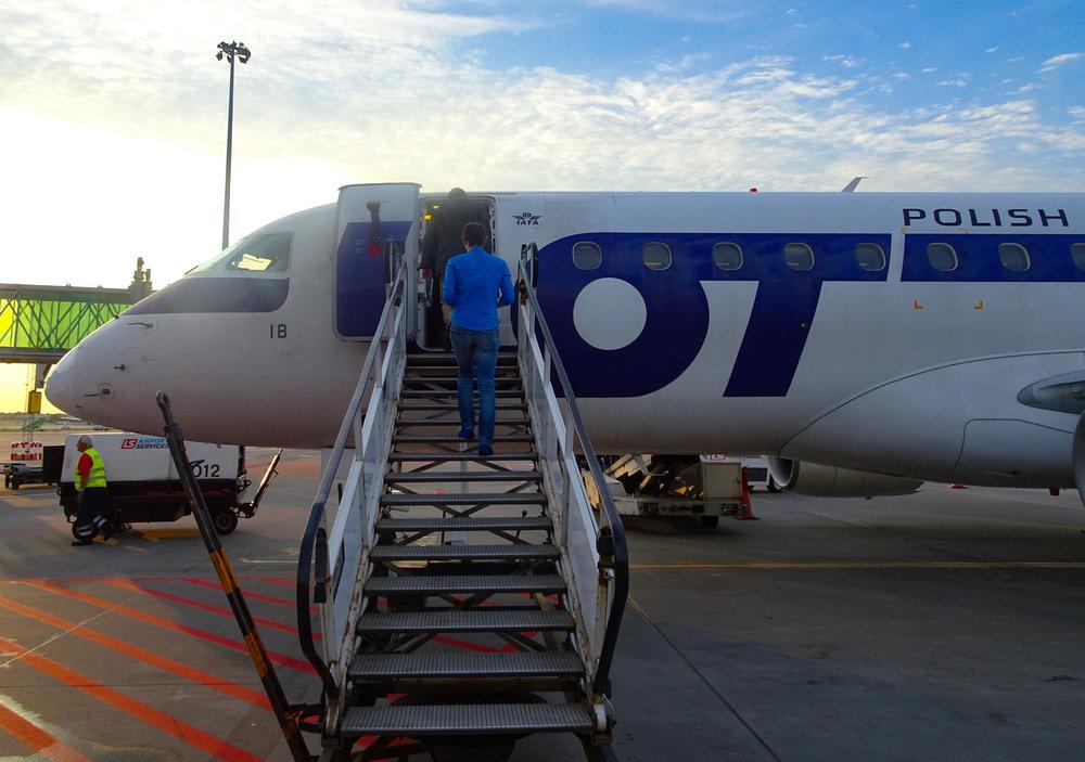 Boarding - LOT Polish Airlines Photo: Calvin Wood