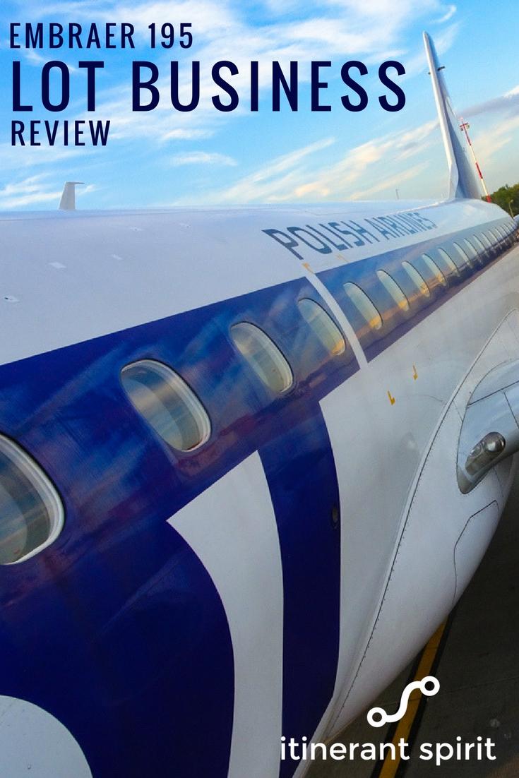 LOT Business Class - Embraer 195 Review - Itinerant Spirit Blog