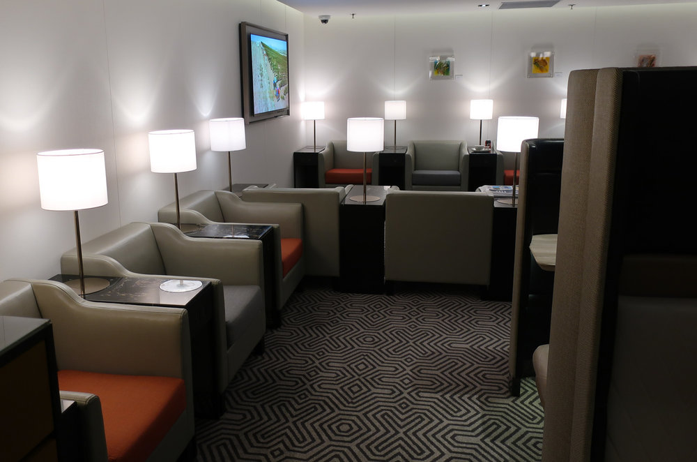 Seating in the Back - Singapore Airlines Lounge Hong Kong - Photo: Calvin Wood