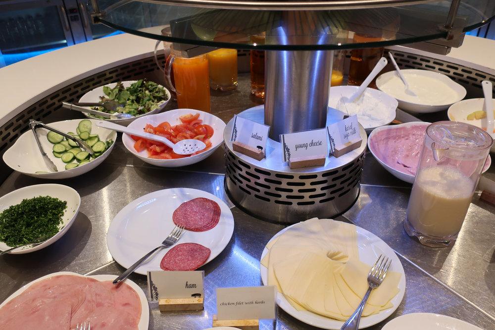 Cold Breakfast Buffet - The Loft Lounge - Brussels - Photo: Calvin Wood