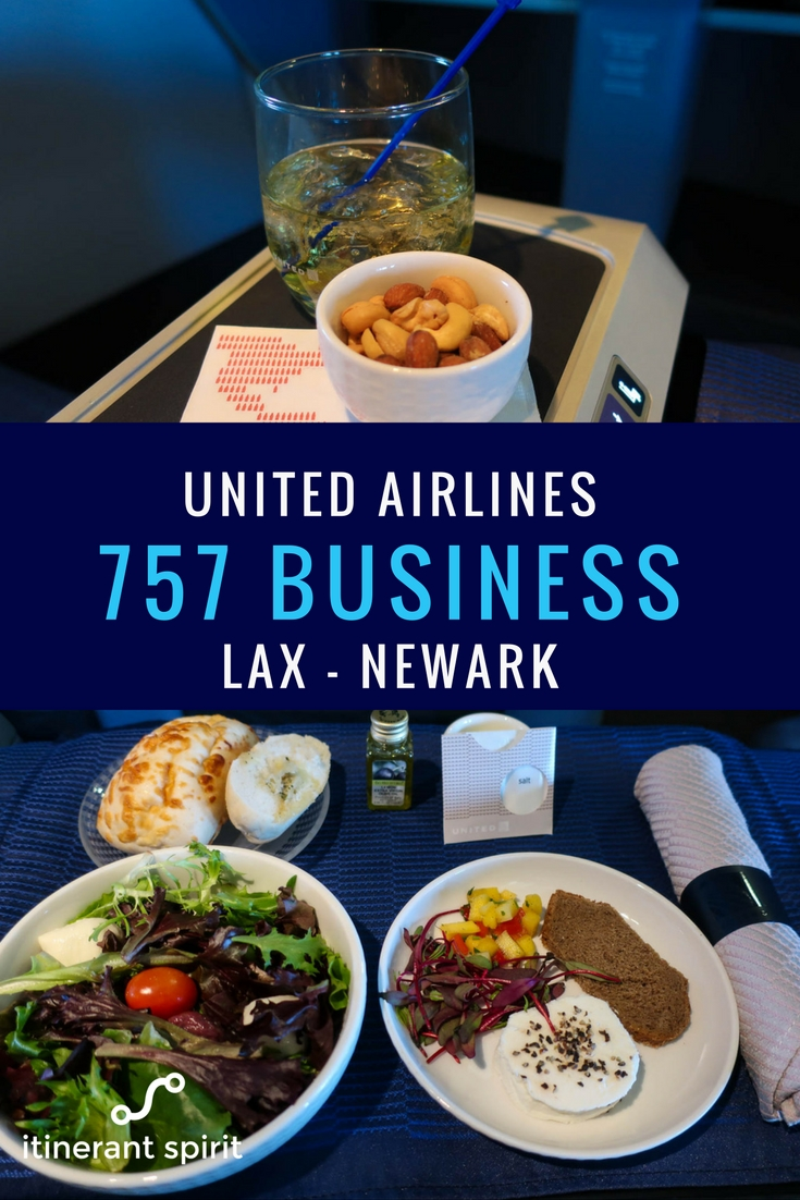United Airlines Transcontinental Business Class Review - LAX to Newark - Itinerant Spirit Blog