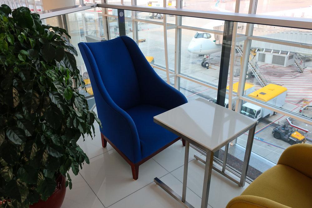 Seating - Thai Airways Business Class Lounge - Hong Kong - Photo: Calvin Wood