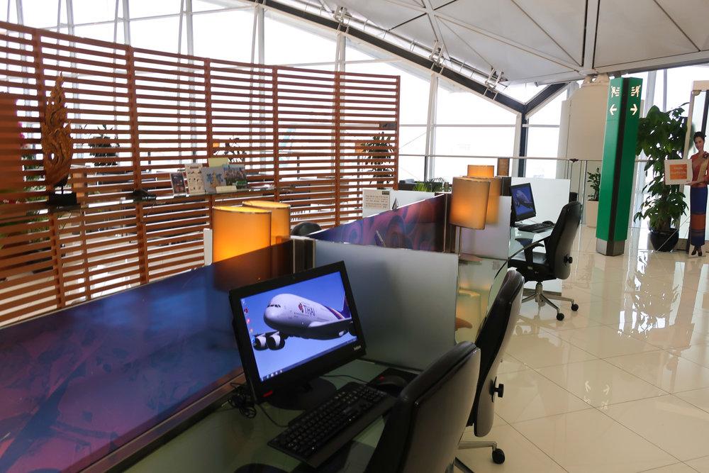 Work Stations - Thai Airways Lounge - Hong Kong - Photo: Calvin Wood
