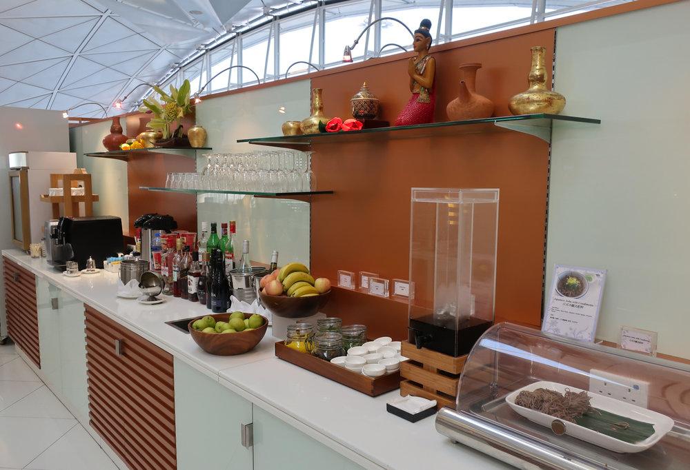 Food Buffet - Thai Airways Lounge - Hong Kong - Photo: Calvin Wood