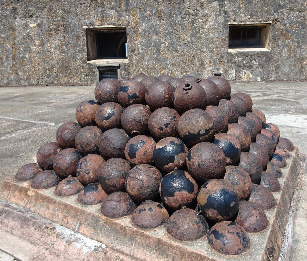 Canonballs - Castillo San Cristobol - San Juan Photo: Calvin Wood